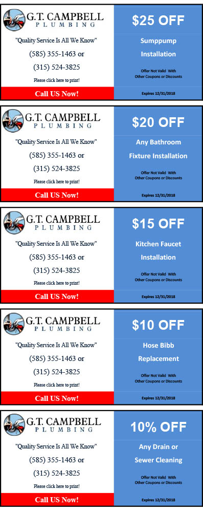 plumbing coupons Rochester ny